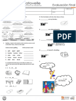Ingles Evaluación 2a y 2b- i Periodo