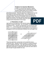 1 Experimental Evidence for Quantum Mechanics