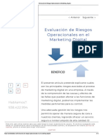 Evaluación de Riesgos Operacionales en Marketing Digital