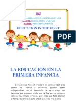 Ensayo Education in the First Childhood