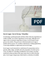 Invert sugar recipe | By Pastry Chef – Author Eddy Van Damme