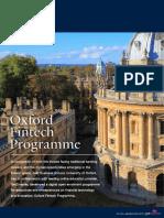Oxford Fintech Programme Prospectus