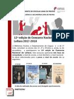 Cartaz Concurso Nacional de Leitura