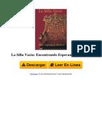 1481102982 La Silla Vacia Encontrando Esperanza y Alegria by Rabi Najman de Breslov