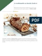 Bûche de Noël roulée traditionnelle au chocolat facile et rapide.pdf