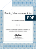 diversityself-awareness and action 100000