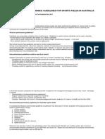 Establishing Guideline Performance Standards for Sports Fields in Australia