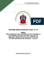 AMPLIACION DE PLAZO N° 01 VALLECITO
