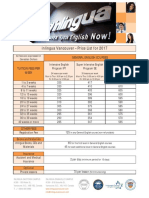 Inlingua Class Prices