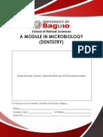 Micbio1 Module (Dentistry)