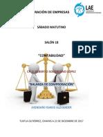 Contabilidad III Balanza de Comprobacion