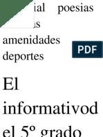 Editorial Poesias Noticias Amenidades Deportes Para El Pm