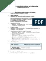 Terminos de Referencia Quillabamba Capacitación III
