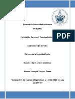 Comparativo de La Ley Del IMSS y La Ley Del ISSSTE