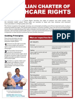 Patient Rights - Australian Charter of Healthcare Rights