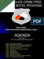 Reno Police Crime Free Hotel & Motel Program, 2018