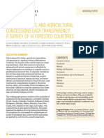 Logging Mining and Agricultural Concessions Data Transparency a Survey of 14 Forested Countries