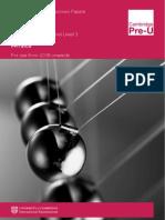 Physics PreU IGCSE