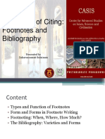 Footnotes and Biblography