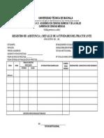 3. Registro de Asistencia y Detalle de Actividades Del Practicante
