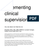 Mplementing Clinical Supervision