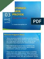 PPT Estimasi Biaya Proyek [TM3]