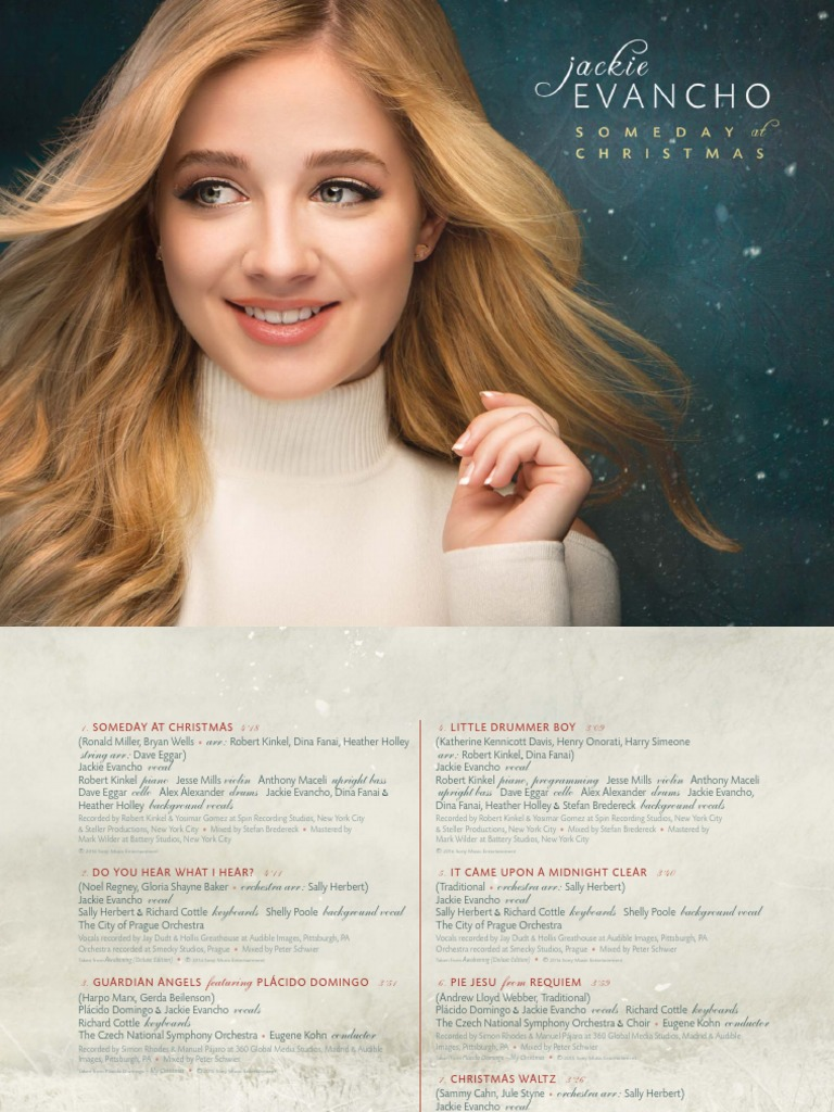Jackie Evancho Someday At Christmas.Digital Booklet Someday At Christmas Music Performance