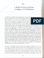 Bingham the Rule of Law and the Sovereignty of Parliament