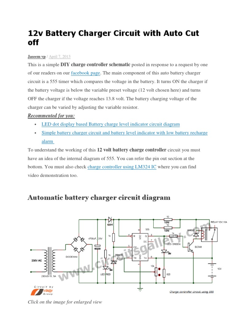 12v battery charger circuit with auto cut offcx publicscrutiny Gallery