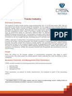 CRISIL Ratings Crieria & Risk Factors for Tractor Industry_2013