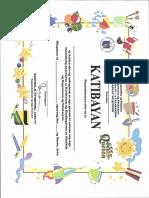 Kindergarten Certificate 2016