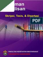 Buku Pedoman Skripsi, Tesis _ Disertasi FKM Unhas 2016