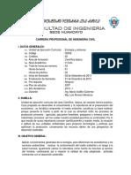 SILABUS DE ECOLOG+ìA Y SISTEMAS