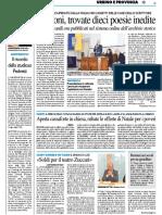 Università, il ricordo dello studioso Pedretti / Trovate dieci poesie inedite di Paolo Volponi - Il Resto del Carlino del 9 gennaio 2018