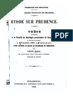 Étude sur Prudence (1862)