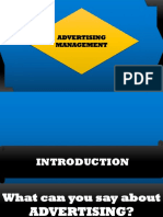 Introduction to Advertising Management