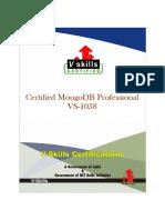 Vs 1058certifiedmongodbprofessionalbrochure 131219043741 Phpapp02