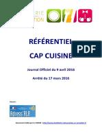 Referentiel Cap Cuisine 2016