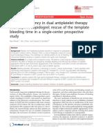 Bleeding Tendency dual antiplatelet therapy