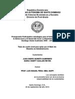Tesis Presupuesto Participativo La Experiencia de Santo Domingo