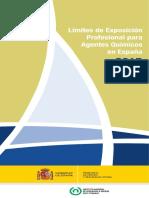 10176 Lrmites de Exposicirn Profesional Para Agentes Qurmicos en Espara 2015 Insht