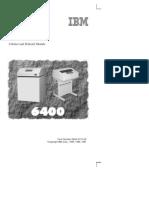 IBM 6400 Operator's Guide