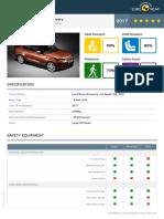 Euroncap 2017 Land Rover Discovery Datasheet
