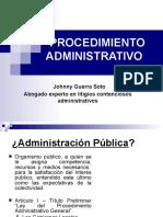 Procedimiento Administrativo y Recursos