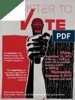 Deputize Voter Registration Flyer 09-08-10