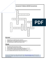 Crosswords Basic Economic Term Igcse