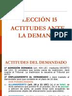 Actitudes Del Demandado Ante La Demanda 15