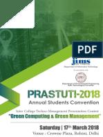 Annual Students Convention- Prastuti 2018