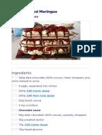 Choc Layered Meringue | CSR Sugar