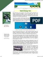 Ecological Homes Hybrid Energy Cars